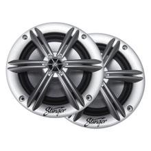 """Product Image - Marine / Powersports 6.5"""" Silver Coaxial Marine Speakers"""