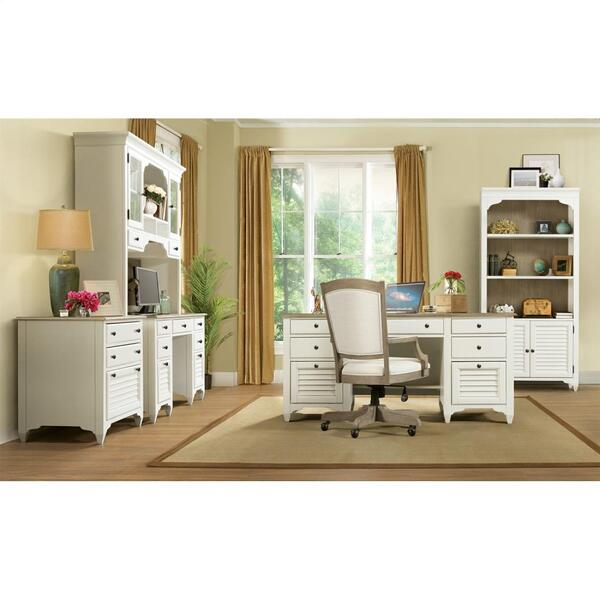 Myra - Executive Desk - Natural/paperwhite Finish