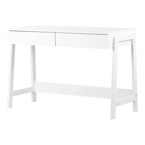 Console Table with 2 Drawers - White