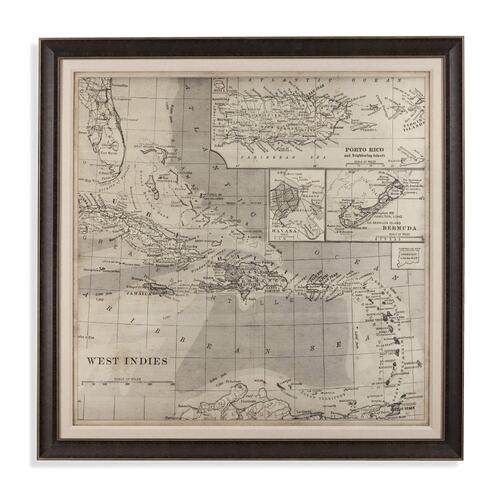 Gallery - Vintage Map of Caribbean