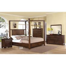 Riata - King/california King Poster Storage Footboard With Platform - Warm Walnut Finish