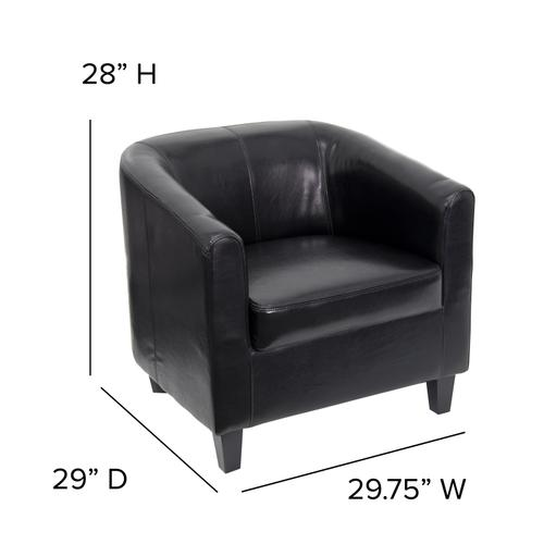 Gallery - Black LeatherSoft Lounge Chair