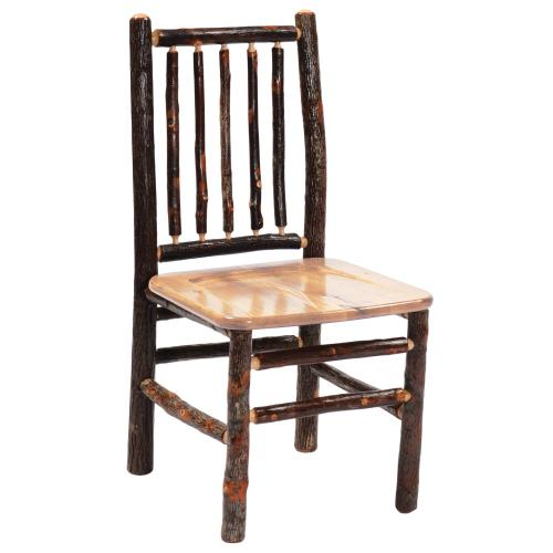 Product Image - Spoke Side Chair - Natural Hickory - Wood seat