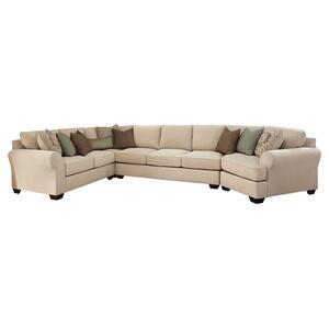 Wilcot 4-piece Sectional With Cuddler