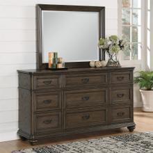 View Product - Belmeade - Landscape Mirror - Old World Oak Finish