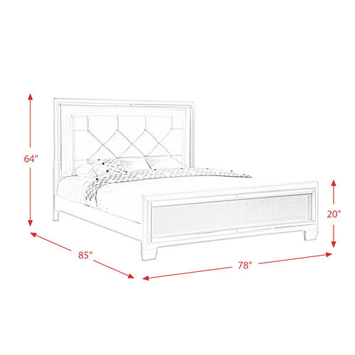 Platinum King Panel Bed