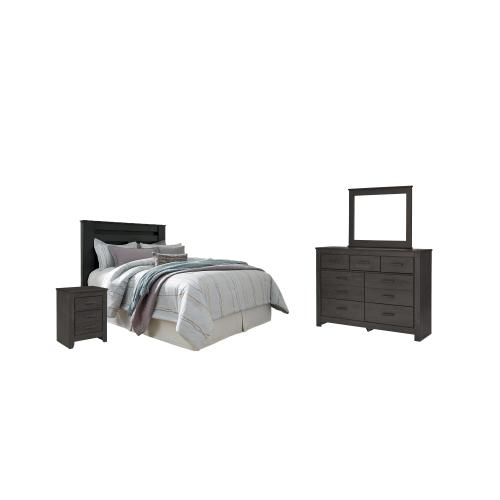 Ashley - Queen/full Panel Headboard With Mirrored Dresser and 2 Nightstands