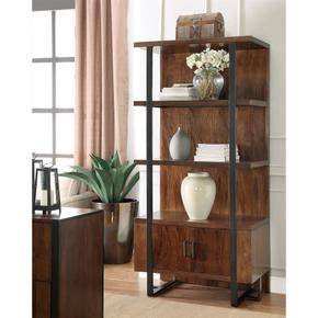 Bookcase Pier - Casual Walnut Finish