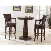 Antoinette 3 Piece Pub Set (Pub Table & 2 Swivel Bar Chairs)