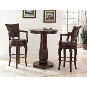 Antoinette 3 Piece Pub Set (Pub Table & 2 Swivel Bar Chairs)