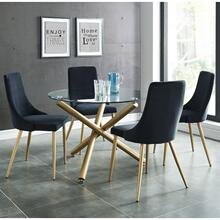 Carmilla 5pc Dining Set, Gold/Black