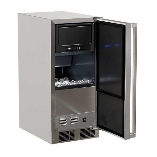 15-In Outdoor Built-In Clear Ice Machine with Door Swing - Right, Pump - No