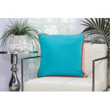"Outdoor Pillows L1589 Coral/turquoise 20"" X 20"" Throw Pillow"