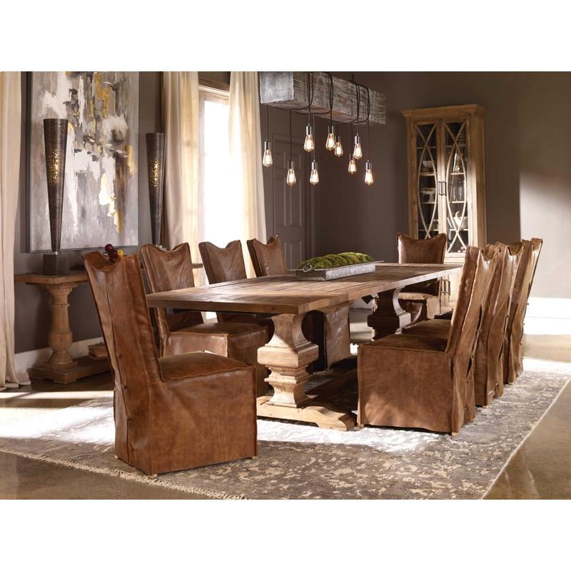 Delroy Armless Chair, Cognac, 2 Per Box