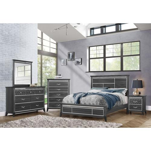 Anaheim 5-Drawer Chest, Black