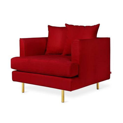 Margot Chair Velvet Sangria / Brass