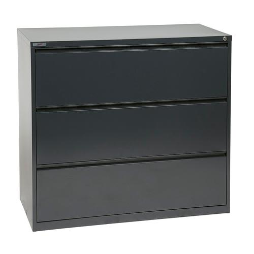 """42"""" Wide 3 Drawer Lateral File With Core-removeable Lock & Adjustable Glides"""