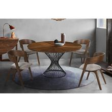 Cirque Jackie 5 Piece Walnut Dining Set