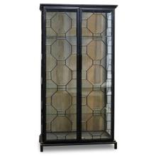 See Details - READING CABINET  Black Finish on Metal Frame with Clear Glass  2 Door