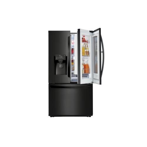 LG - 22 cu. ft. Smart wi-fi Enabled InstaView Door-in-Door® Counter-Depth Refrigerator