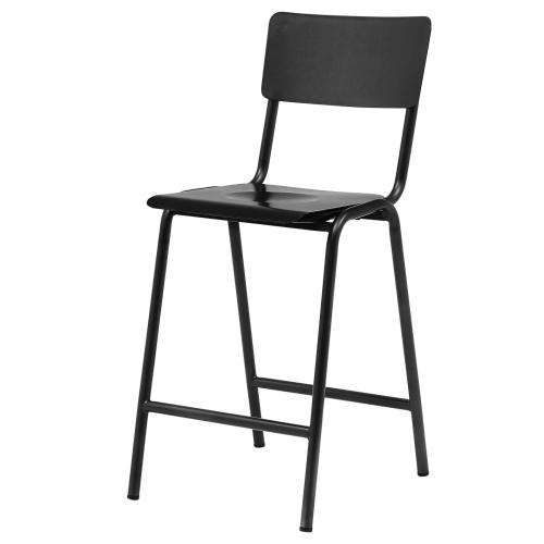 Luke KD Metal Counter Stool, Metallic Gunmetal