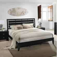 See Details - Ecrille 350 Black Wood Leather Queen Size Bed