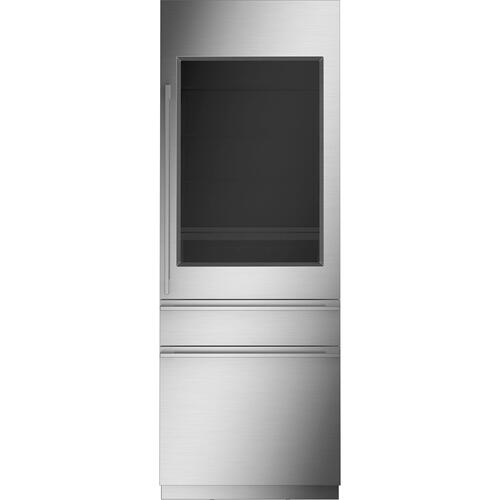 "Monogram 30"" Integrated Glass-Door Refrigerator for Single or Dual Installation - Coming Spring 2021"