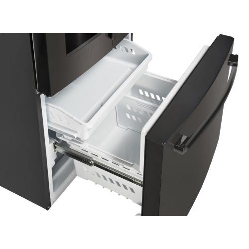 GE Appliances Canada - 23.8 cu.ft. French Door Bottom-Mount, with Space Saving Icemaker