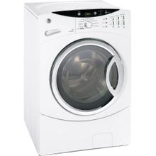 GE® ENERGY STAR® 3.5 DOE Cu. Ft. Capacity Frontload Washer with Stainless Steel Basket (This is a Stock Photo, actual unit (s) appearance may contain cosmetic blemishes. Please call store if you would like actual pictures). This unit carries our 6 month warranty, MANUFACTURER WARRANTY and REBATE NOT VALID with this item.