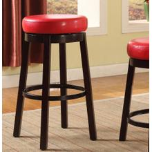 Set of Two Fun Color Wooden Swivel Barstools Bar Height Bloody Red