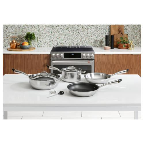"""Product Image - Café™ 30"""" Smart Slide-In, Front-Control, Induction and Convection Double-Oven Range"""