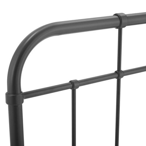 Modway - Alessia Twin Metal Headboard in Gray
