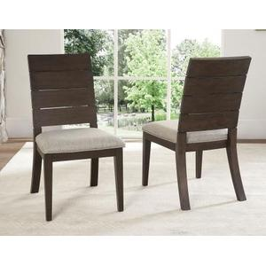 Elora Ladder Back Side Chair, Dark Oak