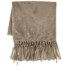 Diane Embossed Velvet Throw Blanket - 2 Colors - Oatmeal
