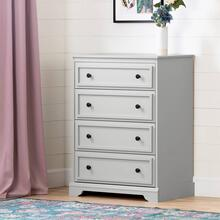 4-Drawer Chest - Soft Gray