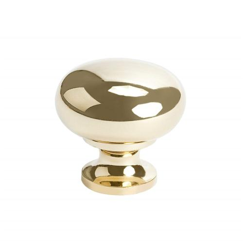 Plymouth Polished Brass Large Knob
