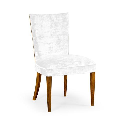 Biedermeier style walnut dining side chair (COM)