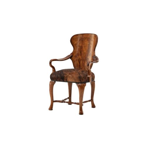 Theodore Alexander - Hourglass Shield Back Accent Chair, #plain#