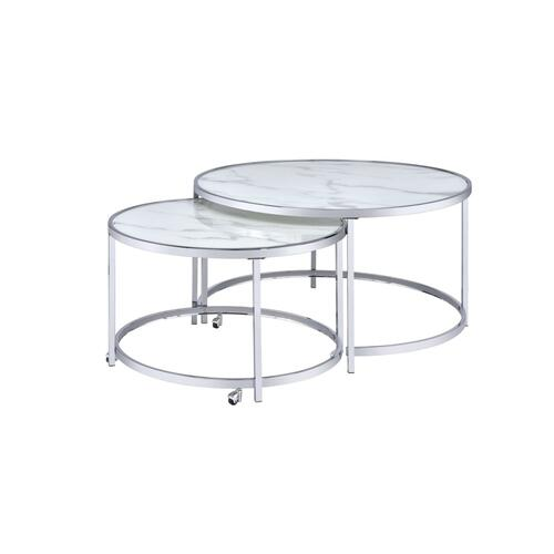 Rayne Nesting Cocktail Table, White