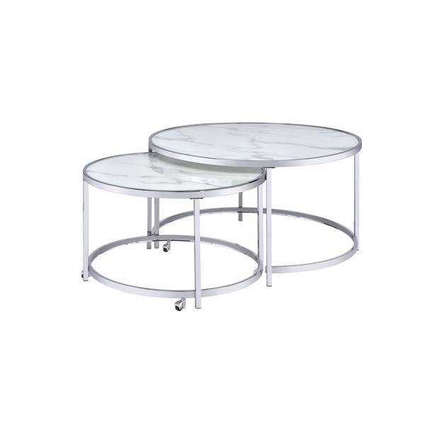 See Details - Rayne Nesting Cocktail Table, White