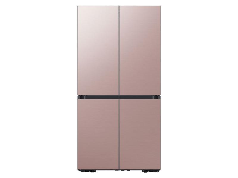 Samsung29 Cu. Ft. Smart Bespoke 4-Door Flex™ Refrigerator With Customizable Panel Colors In Champagne Rose Steel