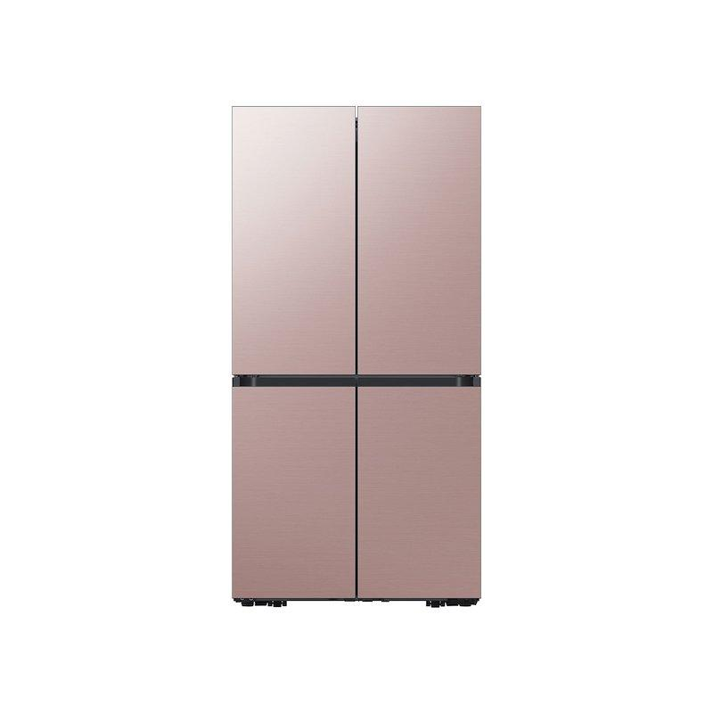 29 cu. ft. Smart BESPOKE 4-Door Flex™ Refrigerator with Customizable Panel Colors in Champagne Rose Steel