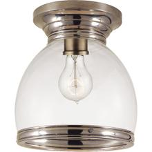 Visual Comfort CHC4132AN-CG E. F. Chapman Edwardian 1 Light 10 inch Antique Nickel Flush Mount Ceiling Light in Clear Glass, Open Bottom