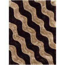 3D-802 COCO Wave Row Shaggy Rug