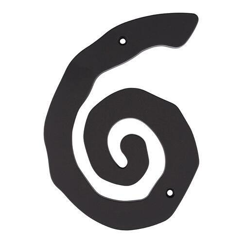 Large Scroll #6 - Matte Black