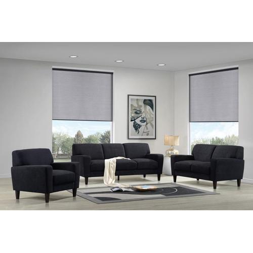 Evan Charcoal Sofa, Loveseat & Chair, SWU8131