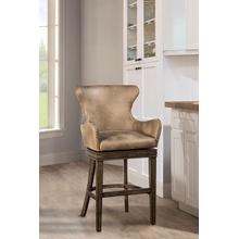 Caydena Upholstered Swivel Counter Stool