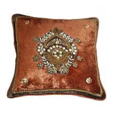 Lolita Burnt Orange Square Pillow