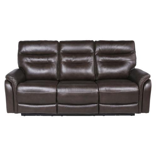 Steve Silver Co. - Fortuna Leather Dual Power Reclining Sofa, Coffee