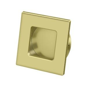 """Deltana - Flush Pull, Square, HD, 2-3/4"""" x 2-3/4"""", Solid Brass - Polished Brass"""